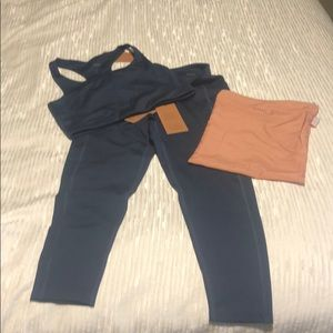 Navy Blue Medium Girlfriend Collective Set